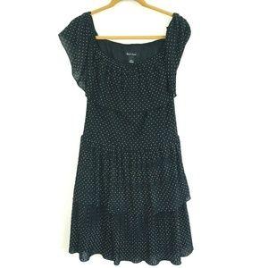 White House Black Market Polka Dot Tiered Dress